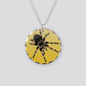 Tarantula Spider Yellow Necklace Circle Charm
