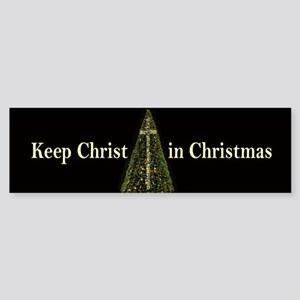 CHRIST in CHRISTMAS - bumper sticker