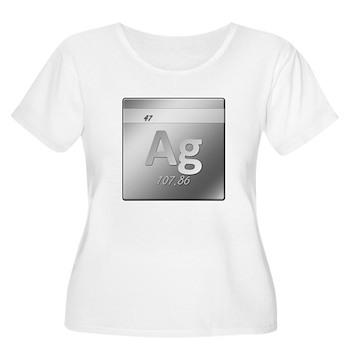 Silver (Ag) Women's Plus Size Scoop Neck T-Shirt