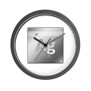 Silver (Ag) Wall Clock