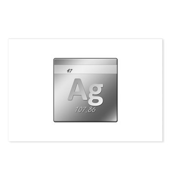 Silver (Ag) Postcards (Package of 8)