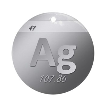 Silver (Ag) Round Ornament