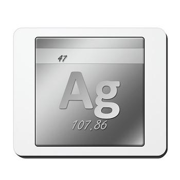 Silver (Ag) Mousepad
