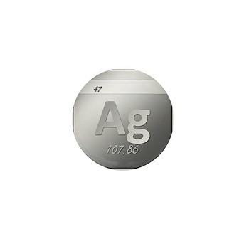 Silver (Ag) Mini Button