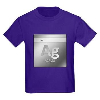 Silver (Ag) Kids Dark T-Shirt