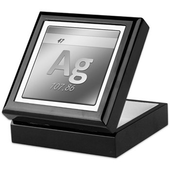 Silver (Ag) Keepsake Box