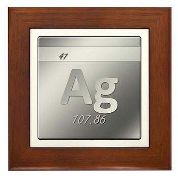 Silver (Ag) Framed Tile