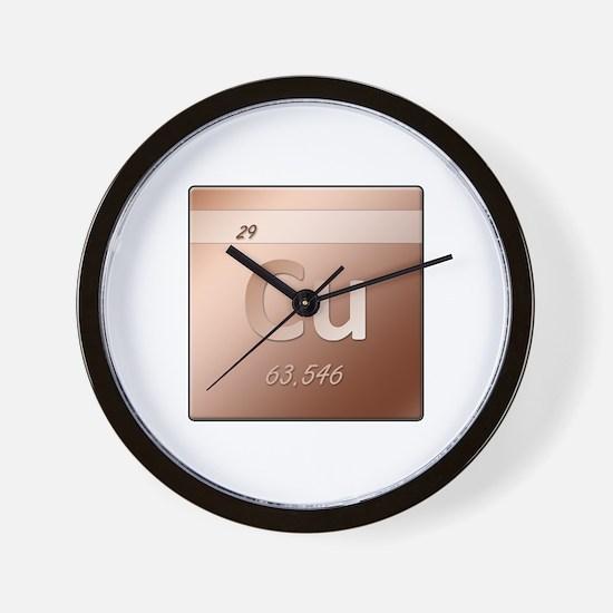 Copper (Cu) Wall Clock