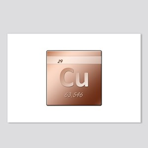 Copper (Cu) Postcards (Package of 8)
