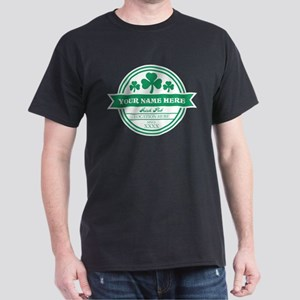 Irish Pub Shamrocks Personalized Dark T-Shirt