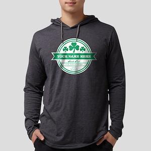 Irish Pub Shamrocks Personalized Mens Hooded Shirt