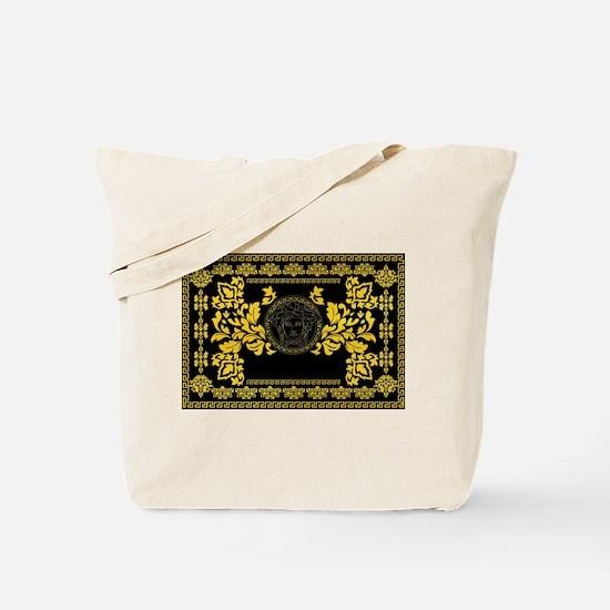 Gold Medusa Tote Bag