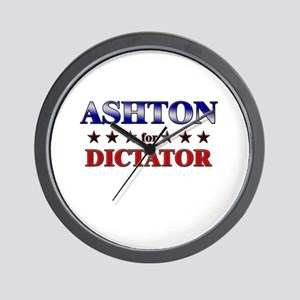ASHTON for dictator Wall Clock