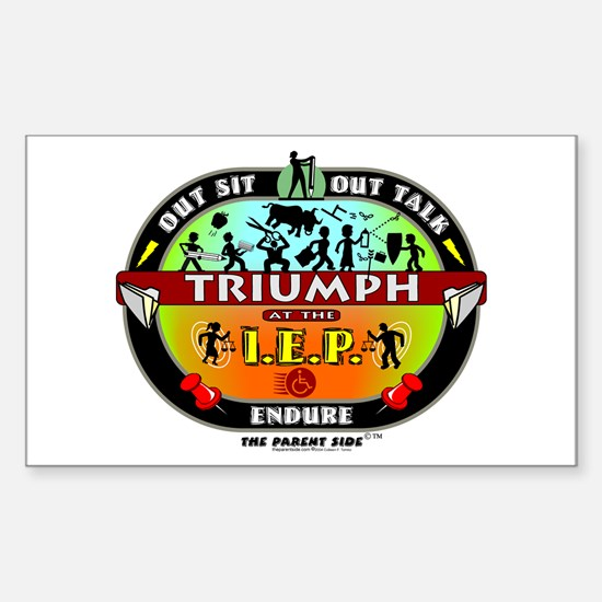 IEP Triumph Rectangle Stickers