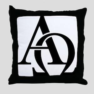 Alpha Omega Throw Pillow