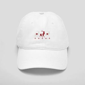 Winter Reindeer Baseball Cap