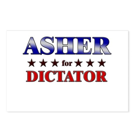ASHER for dictator Postcards (Package of 8)