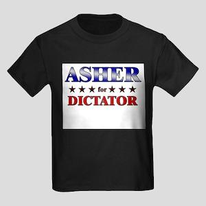 ASHER for dictator Kids Dark T-Shirt