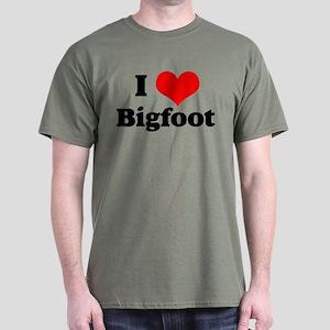 Heart Bigfoot Dark T-Shirt
