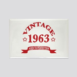 Vintage 1963 Aged To Perfection Rectangle Magnet