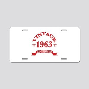 Vintage 1963 Aged To Perfec Aluminum License Plate