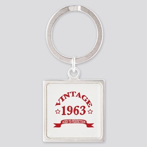 Vintage 1963 Aged To Perfection Square Keychain