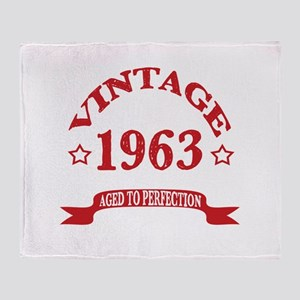 Vintage 1963 Aged To Perfection Throw Blanket