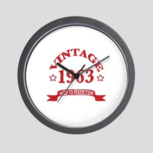 Vintage 1963 Aged To Perfection Wall Clock
