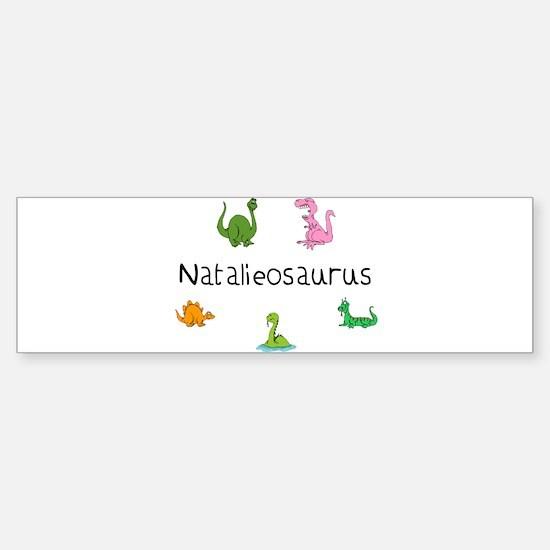 Natalieosaurus Bumper Bumper Bumper Sticker