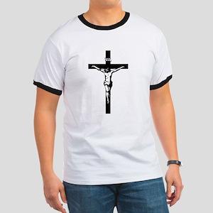 Crucifix Ringer T