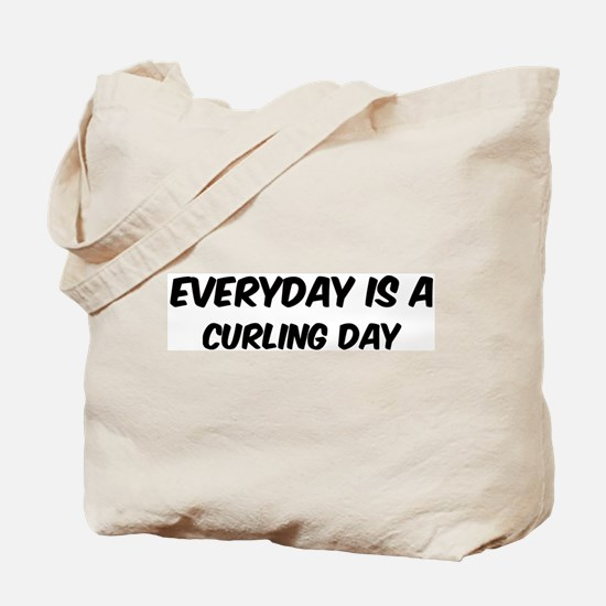 Curling everyday Tote Bag