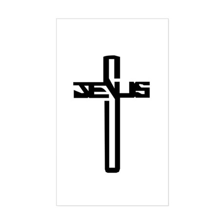 Jesus Cross Rectangle Sticker