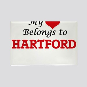 My heart belongs to Hartford Connecticut Magnets