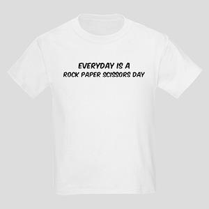 Rock Paper Scissors everyday Kids Light T-Shirt