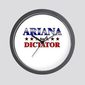 ARIANA for dictator Wall Clock
