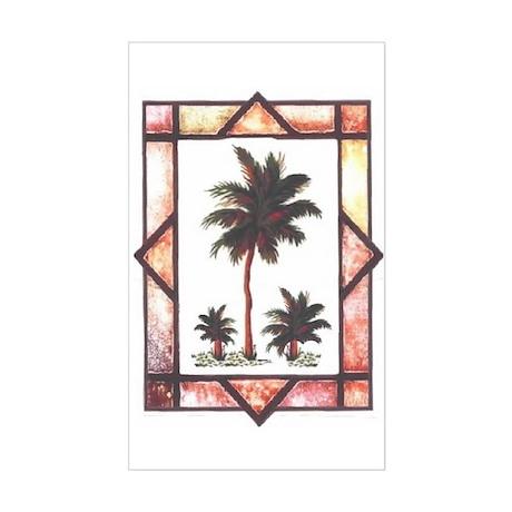 Framed Palm Tree Rectangle Sticker