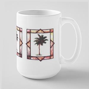 Framed Palm Tree Large Mug