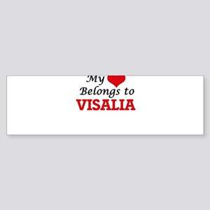 My heart belongs to Visalia Califor Bumper Sticker