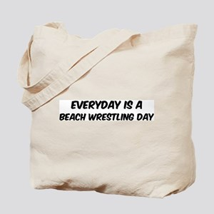 Beach Wrestling everyday Tote Bag