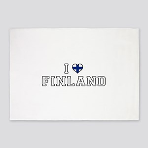 I Love Finland 5'x7'Area Rug