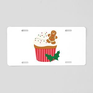 Christmas Cupcake Aluminum License Plate