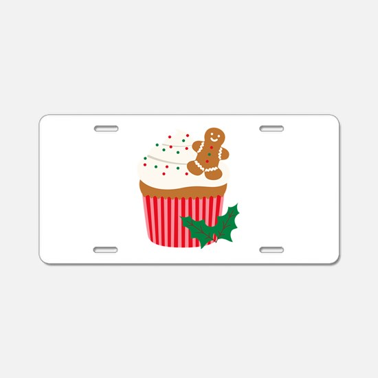 Christmas Cupcake Aluminum License Plate