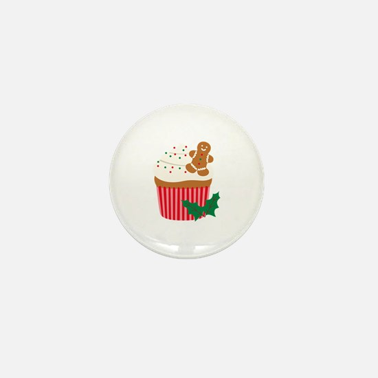 Christmas Cupcake Mini Button
