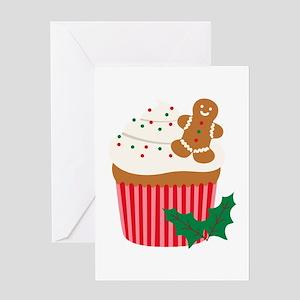 Christmas Cupcake Greeting Cards