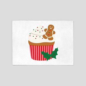 Christmas Cupcake 5'x7'Area Rug