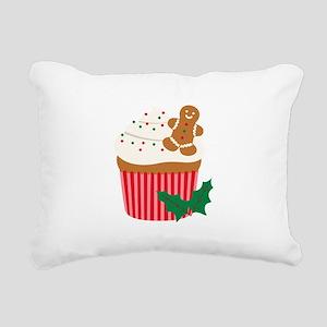 Christmas Cupcake Rectangular Canvas Pillow