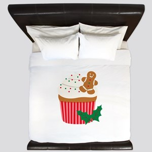 Christmas Cupcake King Duvet