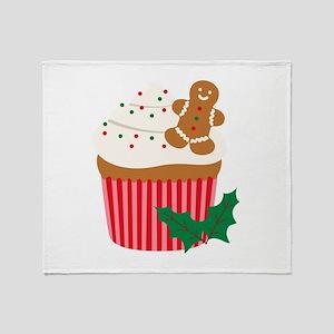 Christmas Cupcake Throw Blanket