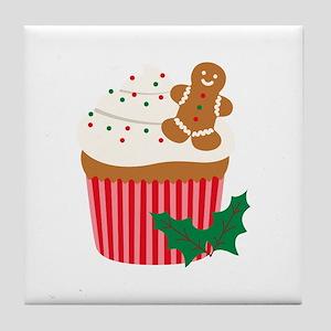 Christmas Cupcake Tile Coaster
