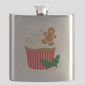 Christmas Cupcake Flask